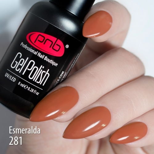 Гель-лак PNB Esmeralda 281, 8 мл.
