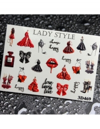 Слайдер дизайн 3D-469 Lady Style