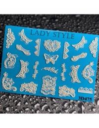 Слайдер дизайн 3D-475 Lady Style
