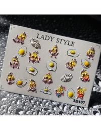 Слайдер дизайн 3D-107 Lady Style