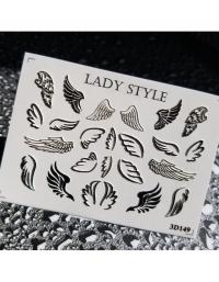 Слайдер дизайн 3D-149 черный Lady Style