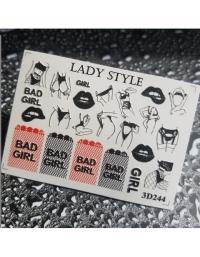 Слайдер дизайн 3D-244 Lady Style
