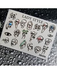 Слайдер дизайн 3D-254 Lady Style