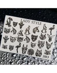 Слайдер дизайн 3D-3 черный Lady Style