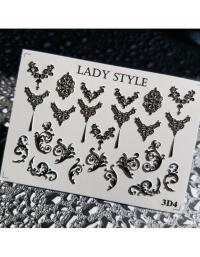 Слайдер дизайн 3D-4 черный Lady Style