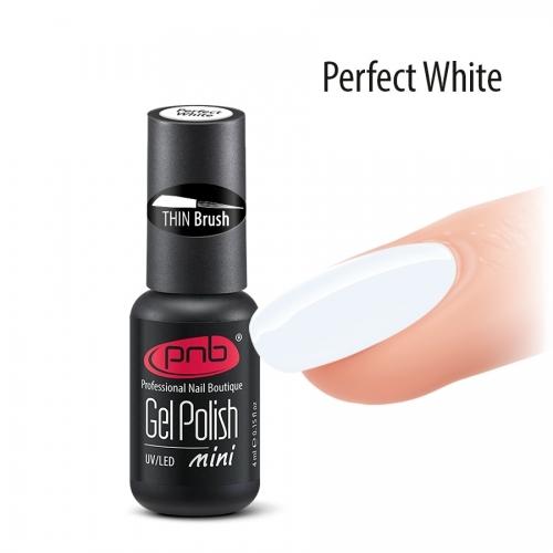 Гель-лак белый PNB mini Perfect White, 4 мл.