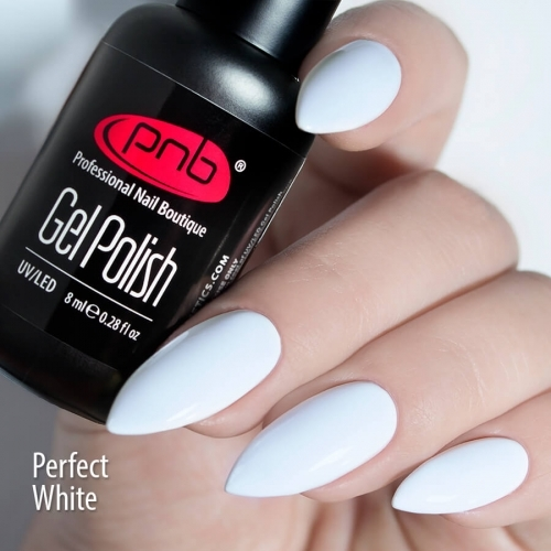 Гель-лак белый PNB Perfect White, 8 мл