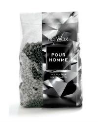 """Воск горячий пленочный черный (мужской) Italwax """"Pour Homme"""", гранулы 1 кг."""