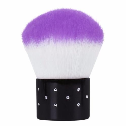 Кисть-сметка для ногтей фиолетовая