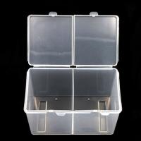 Контейнер для безворсовых салфеток двойной прозрачный