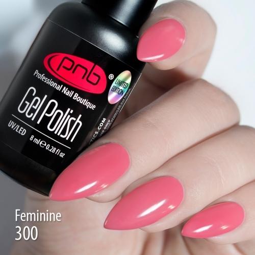 Гель-лак PNB Feminine 300, 8 мл.