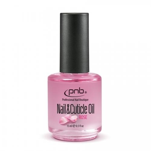 Масло для ногтей и кутикулы роза Nail&Cuticle oil Rose Pnb, 15 мл.