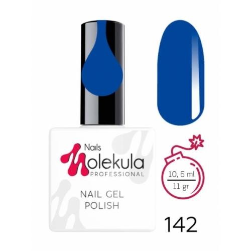 Гель-лак Molekula 142 синий, 10,5 мл.