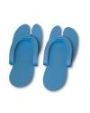 Тапочки одноразовые синие, 6 пар/уп.