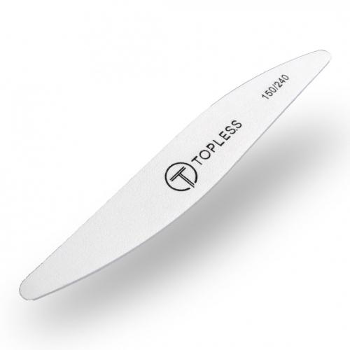 Пилка для ногтей белая волна 150/240 Topless Premium