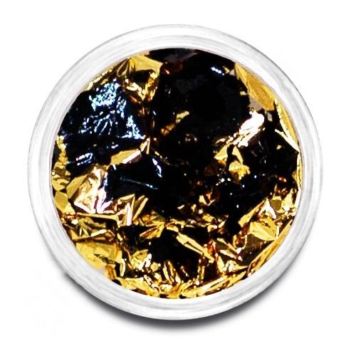 Фольга поталь золото/черный 02