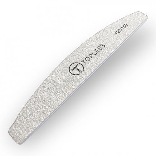 Пилка для ногтей серая полукруг 120/150 Topless Proff