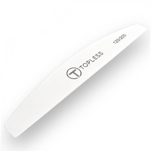 Пилка для ногтей белая полукруг 120/200 Topless Premium