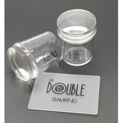 Штамп прозрачный круглый Double Stamping