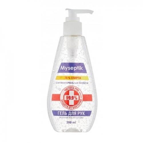 Гель антибактериальный спирт 70% MySeptik, 200 мл.