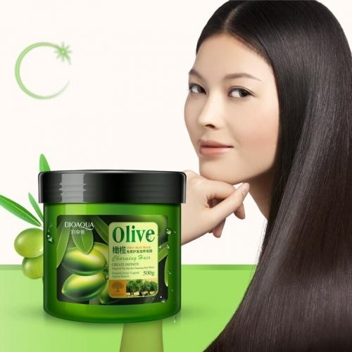 Маска для волос с маслом оливы Bioaqua, 500 мл.