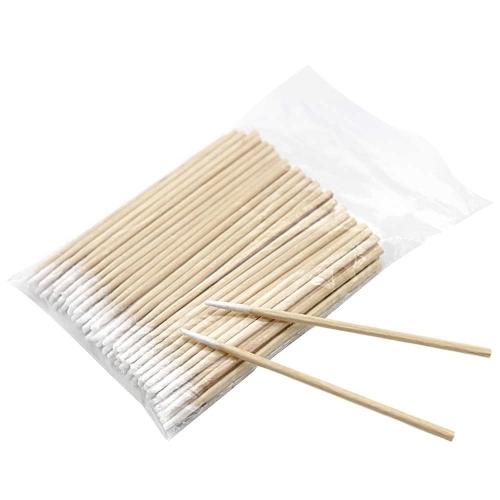 Палочки косметические деревянные ватные, 100 шт.