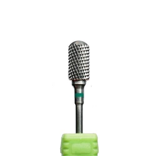Фреза твердосплав цилиндр закругленный зеленая