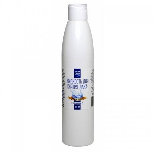 Жидкость для снятия лака без ацетона Чистая Сила, 250 мл.