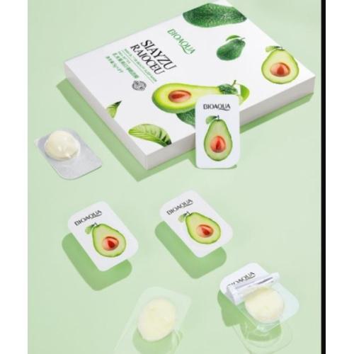 Ночная маска для лица с экстрактом авокадо и маслом ши Bioaqua 5 гр*8 шт.