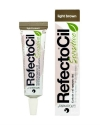 Краска-гель для бровей и ресниц антиалергенная RefectoCil Sensitive Light Brown светло-коричневая, 15 мл.